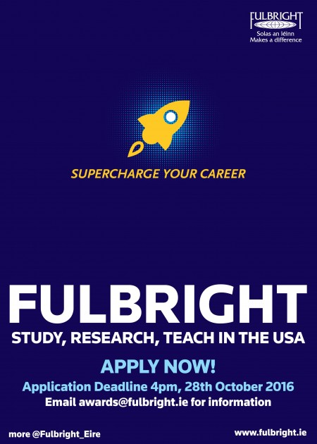 2017-2018 Fulbright Irish Awards Poster