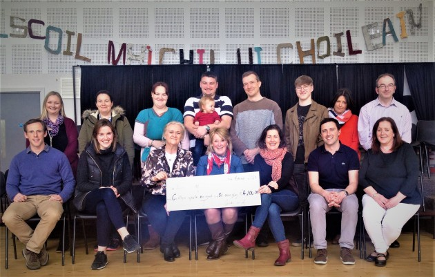 Gaelscoil Coffee morning cheque