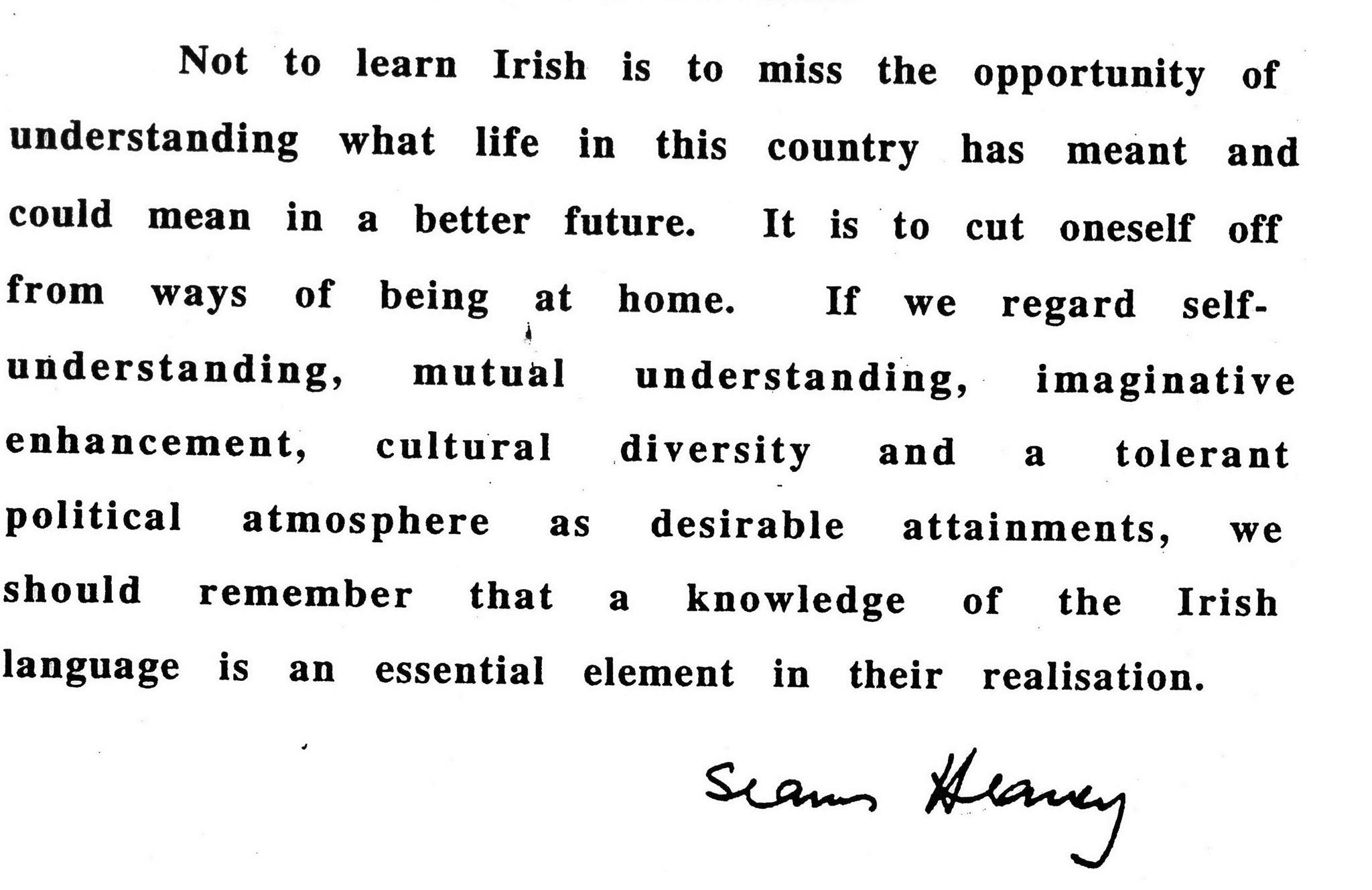 irish language Photo: the president of the irish language school sydney, aoife ní éalaí and  his excellency breandán ó caollaí at the opening of the scoil gheimhridh.